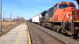 Dorval (QC) Canada  City pictures : Railfanning at Dorval,Qc (Horn Show) with Nic Railsfans 56