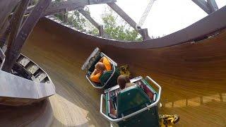 Video Flying Turns POV Worlds Only Wooden Bobsled Roller Coaster Knoebels Amusement Park MP3, 3GP, MP4, WEBM, AVI, FLV Juli 2018