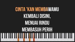 Video Dewa 19 - Cintakan Membawamu Kembali Piano Karaoke Lyrics MP3, 3GP, MP4, WEBM, AVI, FLV Agustus 2018