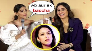 Video Sonam Kapoor Takes A Dig At Mira Rajput Pregnant Again At Veere Di Wedding Trailer Launch MP3, 3GP, MP4, WEBM, AVI, FLV Juni 2018