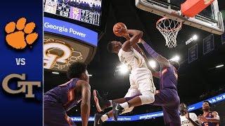 Clemson vs. Georgia Tech Men's Basketball Highlights (2016-17)