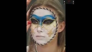 Как сделать маску на лице при помощи макияжа.