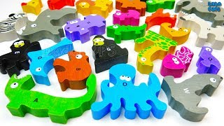 Learn Alphabet with Colors Animals. We are learn ABC Song and names of animalsA-Alligator (green)B-Bear (brown)C-Cat (yellow)D-Dolphin (blue)E-Elephant (gray)F-Fish (orange)G-Gorilla (black)H-Hippopotamus (purple)I-Iguana (green)J-Jellyfish (pink)K-Kangaroo (orange)L-Lion (yellow)M-Monkey (black)N-Nightingale (yellow)O-Octopus (blue)P-Pig (pink)Q-Quail (purple)R-Rhinoceros (gray)S-Snake (yellow)T-Turtle (green)U-Unicorn (white)V-Vultute (brown & black)W-Walrus (gray)X-X-Ray fish (blue)Y-Yak (brown)Z-Zebra (white)Click to Subscribe to Dada Pups https://www.youtube.com/channel/UC1Sir-iKkghO5SSguzYC2lgSee other interesting videos:https://www.youtube.com/channel/UC1Sir-iKkghO5SSguzYC2lg/videos