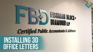 Installation Process of 3D letters for Fishman Block Diamond