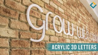 Wall Mounted Acrylic 3D Letters
