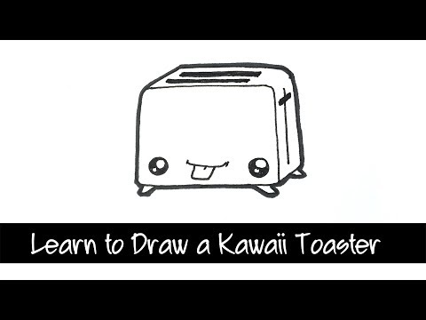 Learn to draw a Kawaii Toaster - step by step draw with me