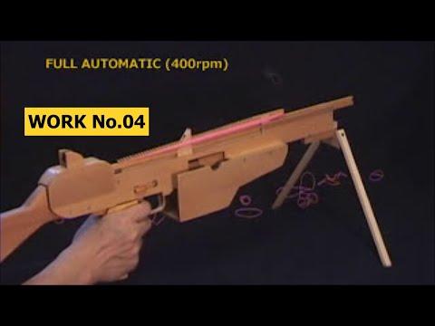 50 rounds Semi & Full Rubber Band Machine Gun/ oggcraft.jp