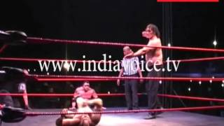Haldwani India  city photo : The Great Khali injured during fight in Haldwani