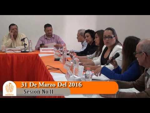 Sesión Ordinaria No. 11 de Ayuntamiento 31 de marzo de 2016