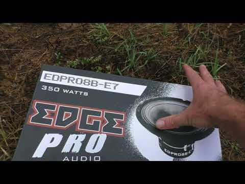 Обзор EDGE EDPRO8B-E7   от усилителя Ural DB 6.180 (видео)