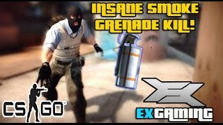 Got this hilarious kill on Dust 2 with a smoke grenade finishing off an enemy I had tagged. ------ Subscribe to our Youtube channel! Https://youtube.com/c/ex...