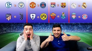 CHAMPIONS LEAGUE ROUND OF 16 DRAW REACTION - PREDICTIONS