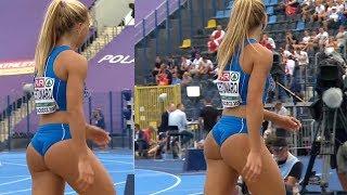 Gorgeous Italian Ottavia Cestonaro Long jumper and Triple jumper gave her all at the European U23 Championships 2017 in Bydgoszcz Poland.
