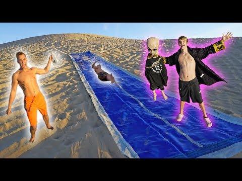 WORLD'S BIGGEST SLIP N SLIDE IN THE DESERT!! *EPIC*