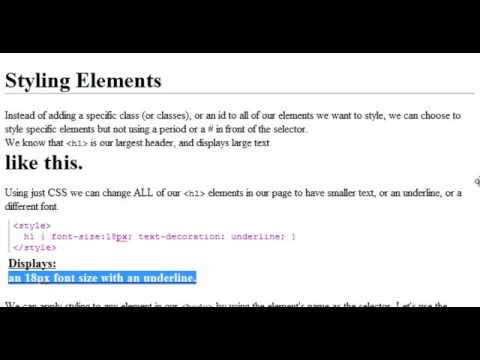 CSS Tutorial  |  Styling Elements