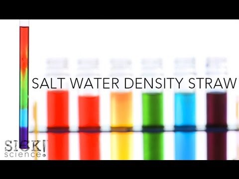 Salt Water Density Straw - Sick Science! #140 (видео)