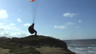 Paul on his airwave burn , 20+mph wind . april 7th 2012