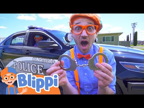 Blippi Learning About Police Cars | Educational Videos For Kids