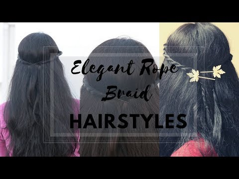 2 Stylish Rope Braid Hairstyles  Hairstyles For Valentines Day  Cute Hairstyles For Romantic Date
