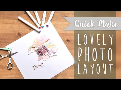 Lovely Photo Layout - Sizzix