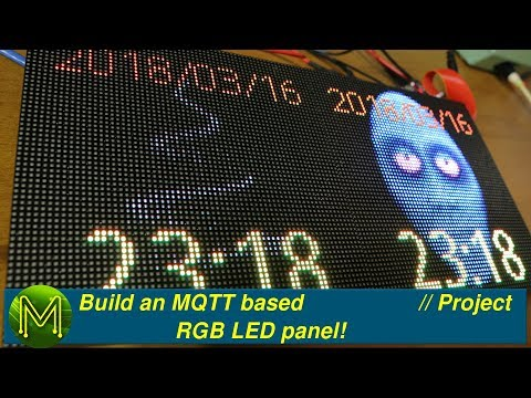 #200 Build an MQTT based RGB LED panel! // Project