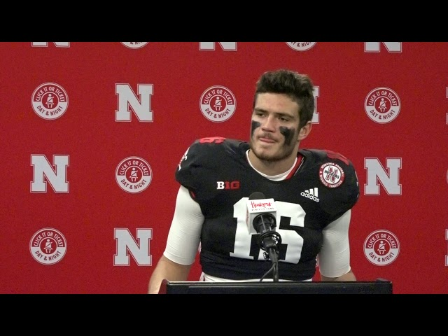 Husker Blitz - HOL HD: Noah Vedral Indiana Post Game Comments