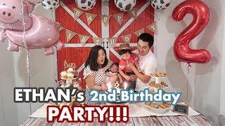 Video Vlog #255 | ETHAN'S 2nd BIRTHDAY PARTY!!!🎂🎁 (& after party karaoke) MP3, 3GP, MP4, WEBM, AVI, FLV November 2018