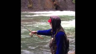 Fishing for steelhead on the North Fork of the Nehalem River, December 2015.