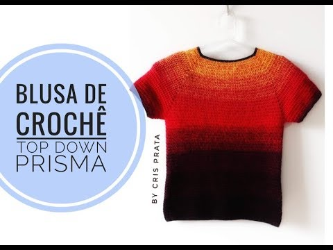 Blusa de crochê Top Down Prisma by Cris Prata