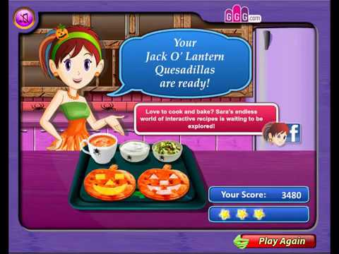 Cartoon. Walkthrough. Sara`s Coocing Class. Jack-o-Lanterns Quesadillas. Collection. Cooking