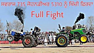 Swaraj 735 vs John Deere 5310   Tractor Tochan   Full Fight   Jogi Majra   Tractor Pull 2020