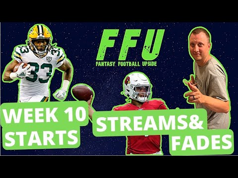 WEEK 10 TOP STARTS, STREAMERS, AND FADES   Fantasy Football Upside Podcast