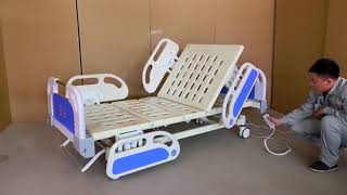 3 Function Manual Hospital Bed youtube video