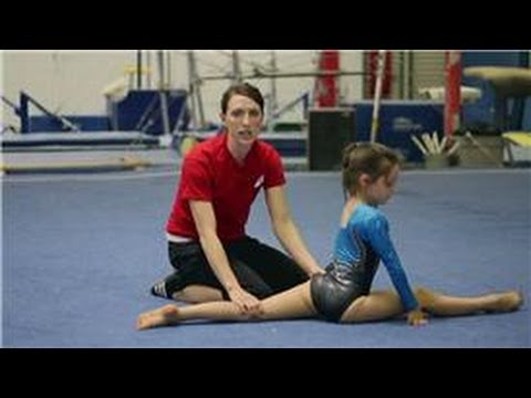 Intro to Gymnastics : Left & Right Leg Splits for Gymnastics Warm-Ups