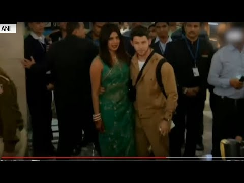 Priyanka Chopra-Nick Jonas wedding: Couple arrive in Delhi for reception