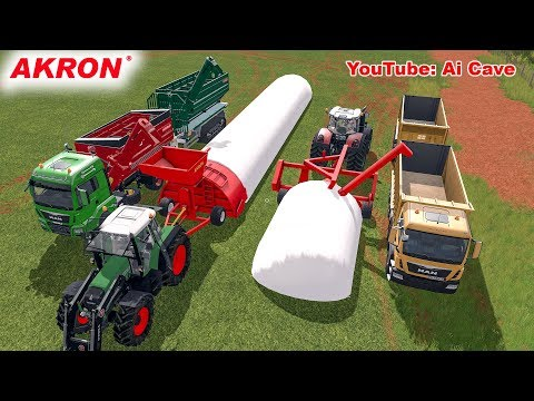Farming Simulator 2017 Mods - How to use Akron grain baggers with truck and tractors