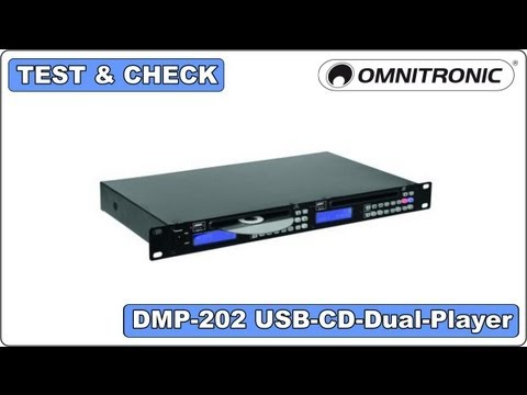 Test & Check - Omnitronic - DMP-202 USB-CD-Dual-Player