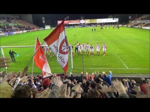 Mouscron-peruwelz football fans (видео)