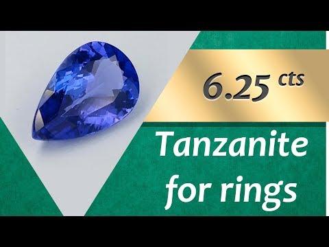 Tanzanite Rings: Design Unique Rings with Loose Tanzanite 6.25 Carat