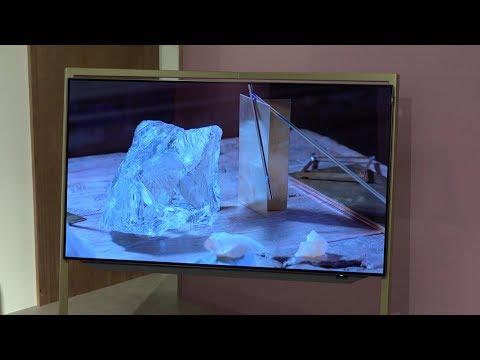 Loewe OLED HDR TV bild 9, 7, 5, 3 + Designstudie @ IFA 2017