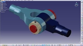 Catia V5 Tutorial|Product Engineering Design|How to Create Knuckle Joint(Easy Steps Beginners)|P6