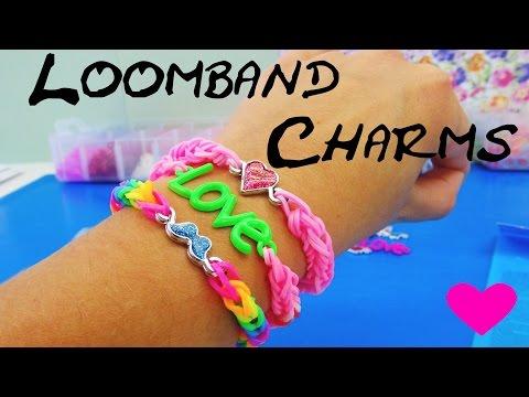 Loom Bands Charms deutsch / LOVE Anhänger Fishgräten-Armband deutsch / Love Bracelet Tutorial