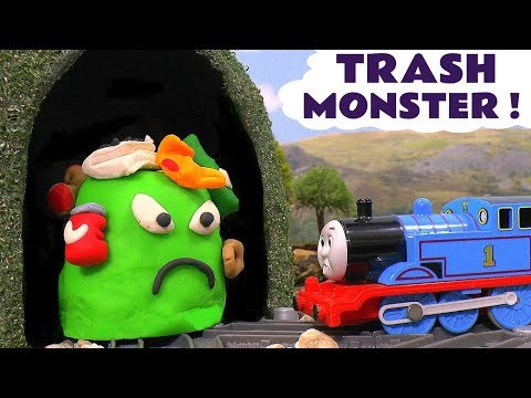 Play doh - Thomas & Friends Toy Trains Trash Monster Prank with Play-Doh - Mashems and Train Toys for kids TT4U