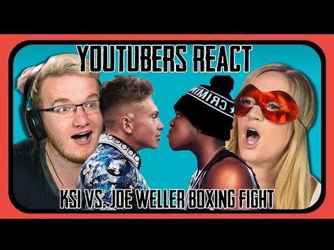 Youtubers React To KSI VS Joe Weller (Youtuber Boxing Match) (видео)