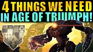 """Discussing 4 big things that Destiny's new update, Age of Triumph, needs to have!Many people are unhappy with the current state of Destiny, and """"Destiny is Dead"""" is not an uncommon comment to see, but the Age of Triumph has a chance to turn things around, if it nails these 4 things!Having Destiny in the best state possible is going to be important for Destiny 2 to succeed!--- Official Merch: https://shop.bbtv.com/collections/kackishd--- My Twitter: https://twitter.com/RickKackis--- My Twitch Channel: http://www.twitch.tv/kackishd/profile"""