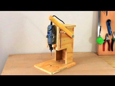 Сверлильный станок своими руками из фанеры видео