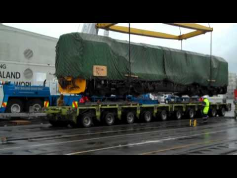 DL Locomotives Unloading Process @ Ports Of Auckland Part 1 DH 2868