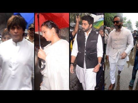 Shashi Kapoor's Funeral Full Video   Shahrukh, Amitabh & More