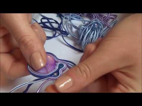 tutorial orecchini con la tecnica soutache