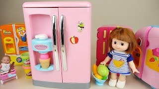 Video Baby Doll big refrigerator toy and Play Doh ice cream with Pororo MP3, 3GP, MP4, WEBM, AVI, FLV Mei 2017